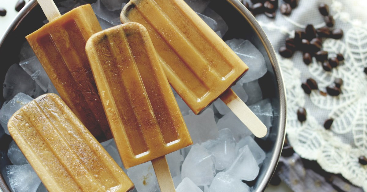 Coffee Caramel Popsicle