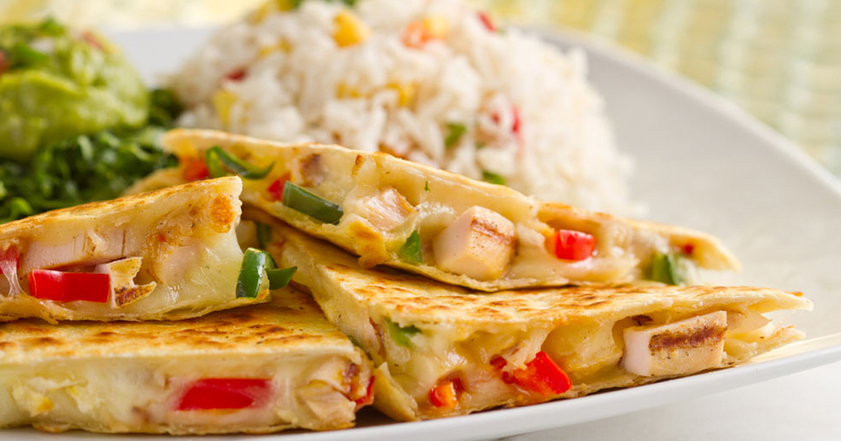 How to make healthy chicken quesadilla