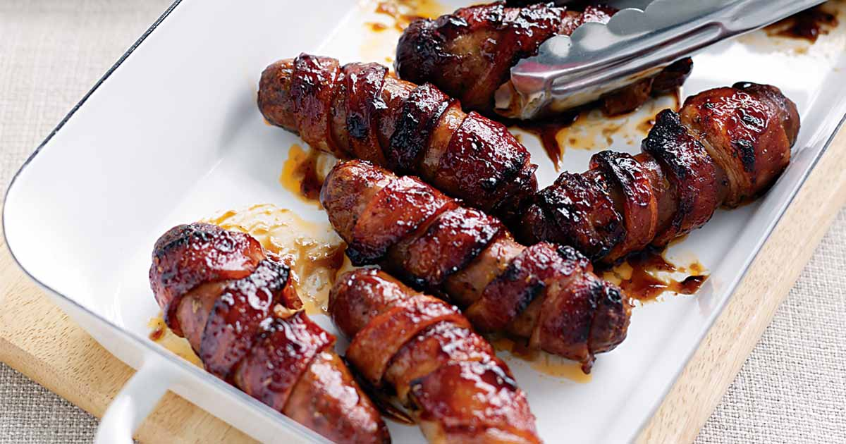 Bacon Wrapped Sausage Recipe