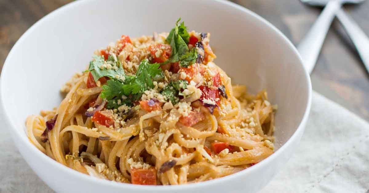 Spicy Thai Noodles With Vegetables