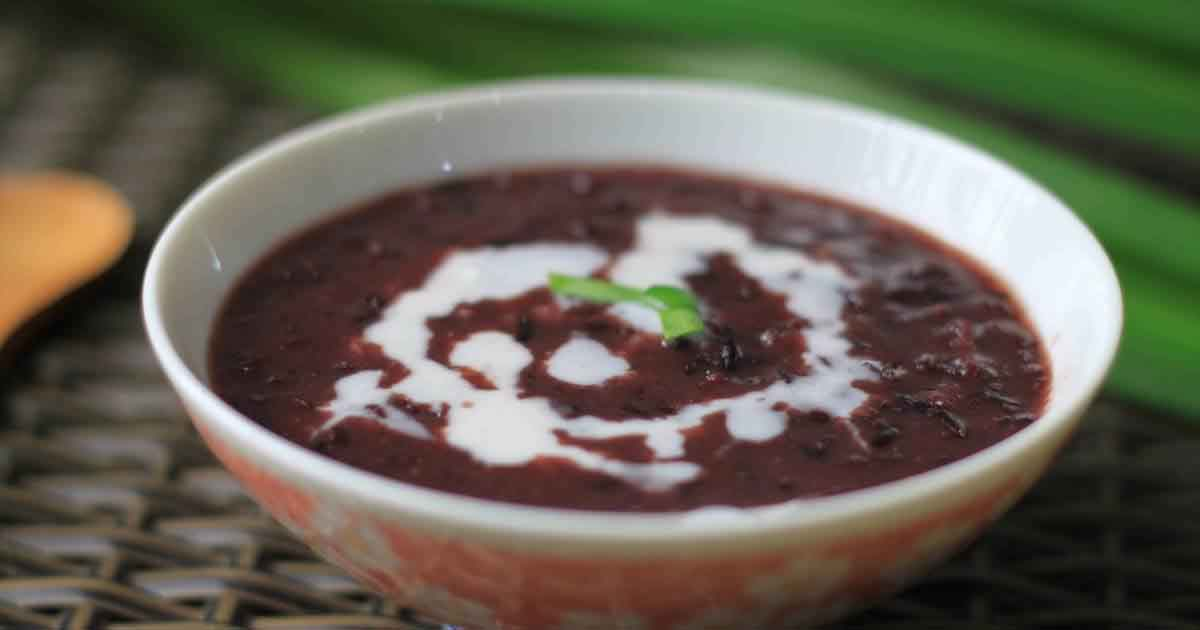 Thai Red Rice Pudding