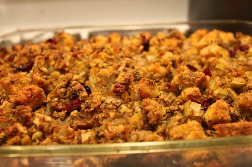 Apple Pecan Corn Bread Dressing Recipe