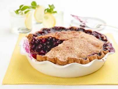 Blueberry-Lemon Pie with a Butter Crust Recipe
