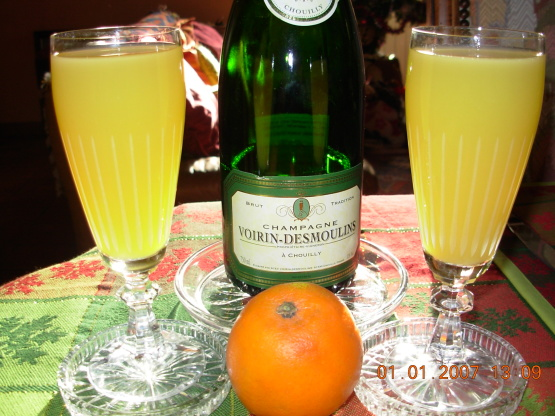 Champagne and Orange Cocktail Recipe