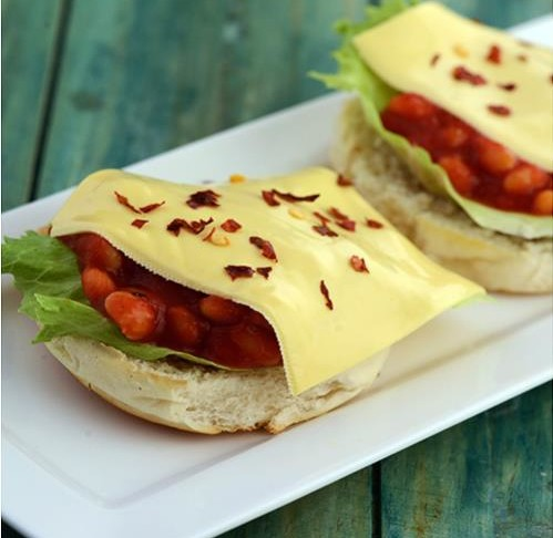 Bean and Cheese Burgers Recipe