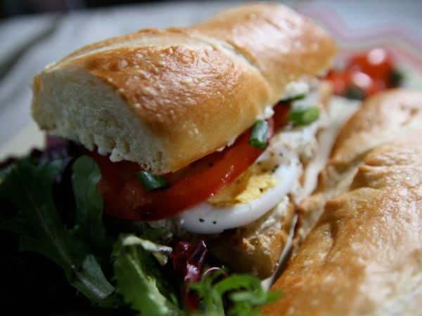 Egg and Garlic Cheese Baguette Recipe