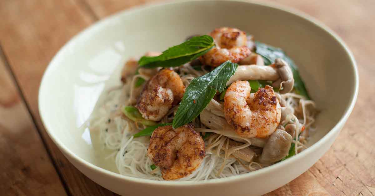 Thai Noodle Salad With Prawns