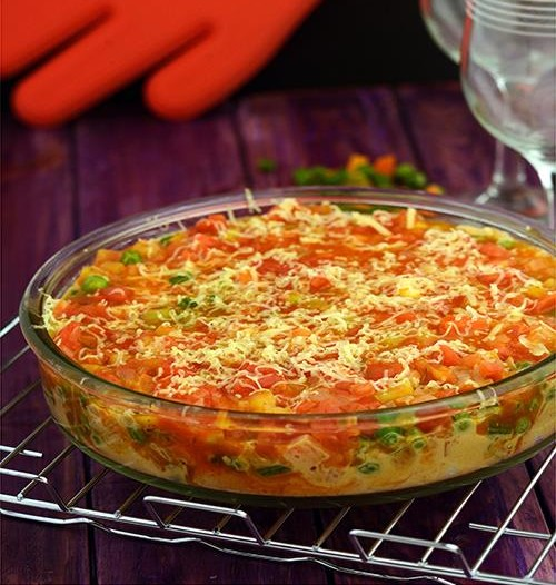 Baked Vegetables with Creamy Coconut and Tomato Sauce Recipe
