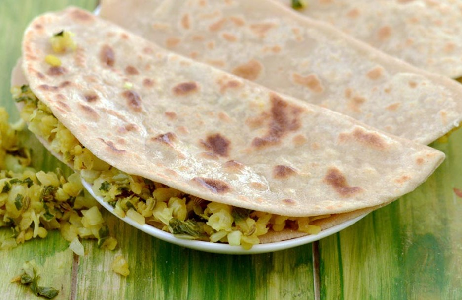 Cabbage and Dal Parathas Recipe