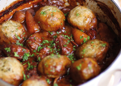 Beef Stew With Suet Dumplings Recipe