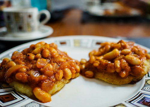 Baked Beans With Potato Cakes Recipe