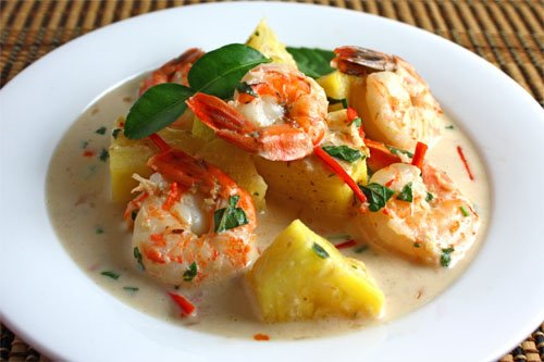 Prawns with Pineapple Recipe
