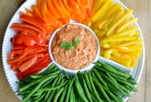 Pepper Dip with Crudites Recipe