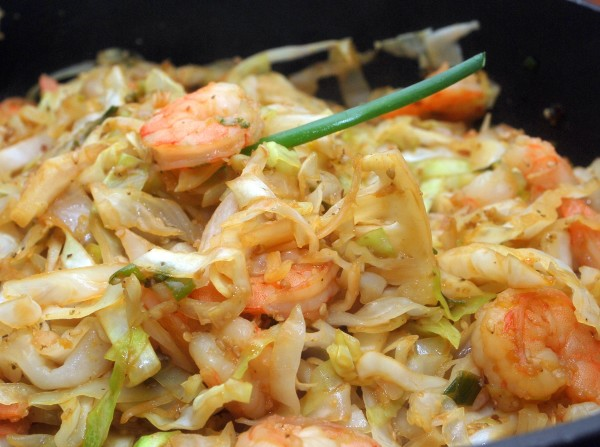 Cabbage Prawns Recipe