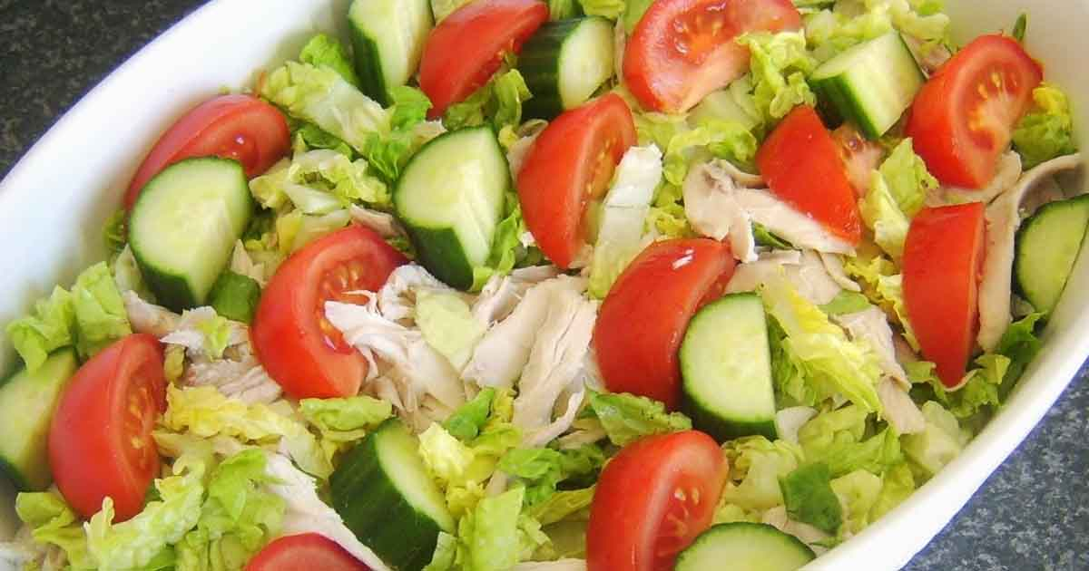 Chicken Salad with Lettuce and Tomato Recipe