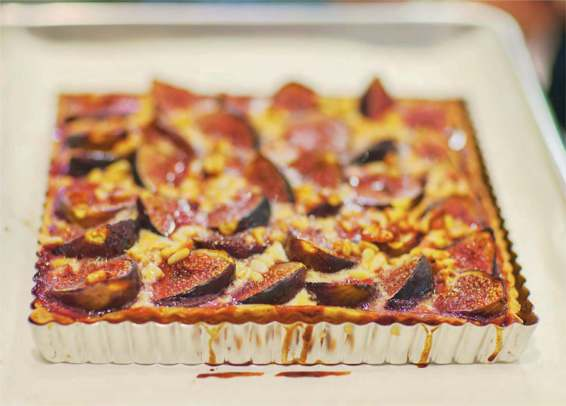Fig, Pinenut, Macarpone Custard Tart Recipe