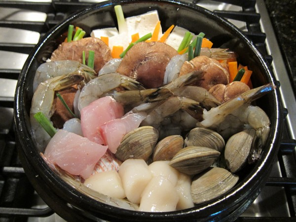 Seafood and Chicken Hotpot Recipe