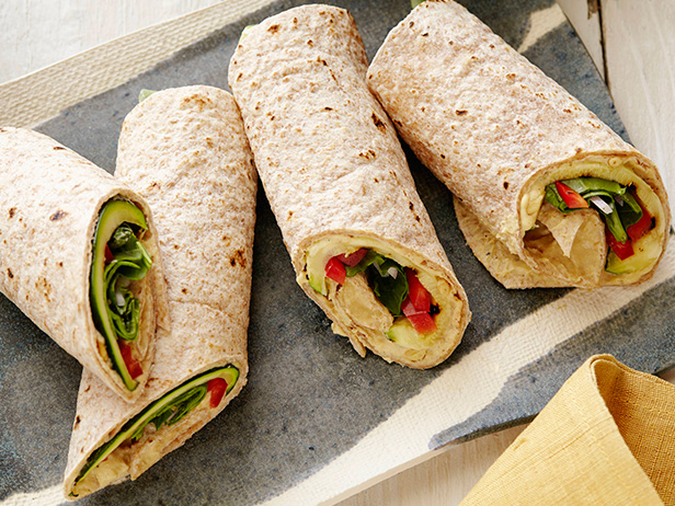 Hummus and Grilled Vegetable Wrap Recipe