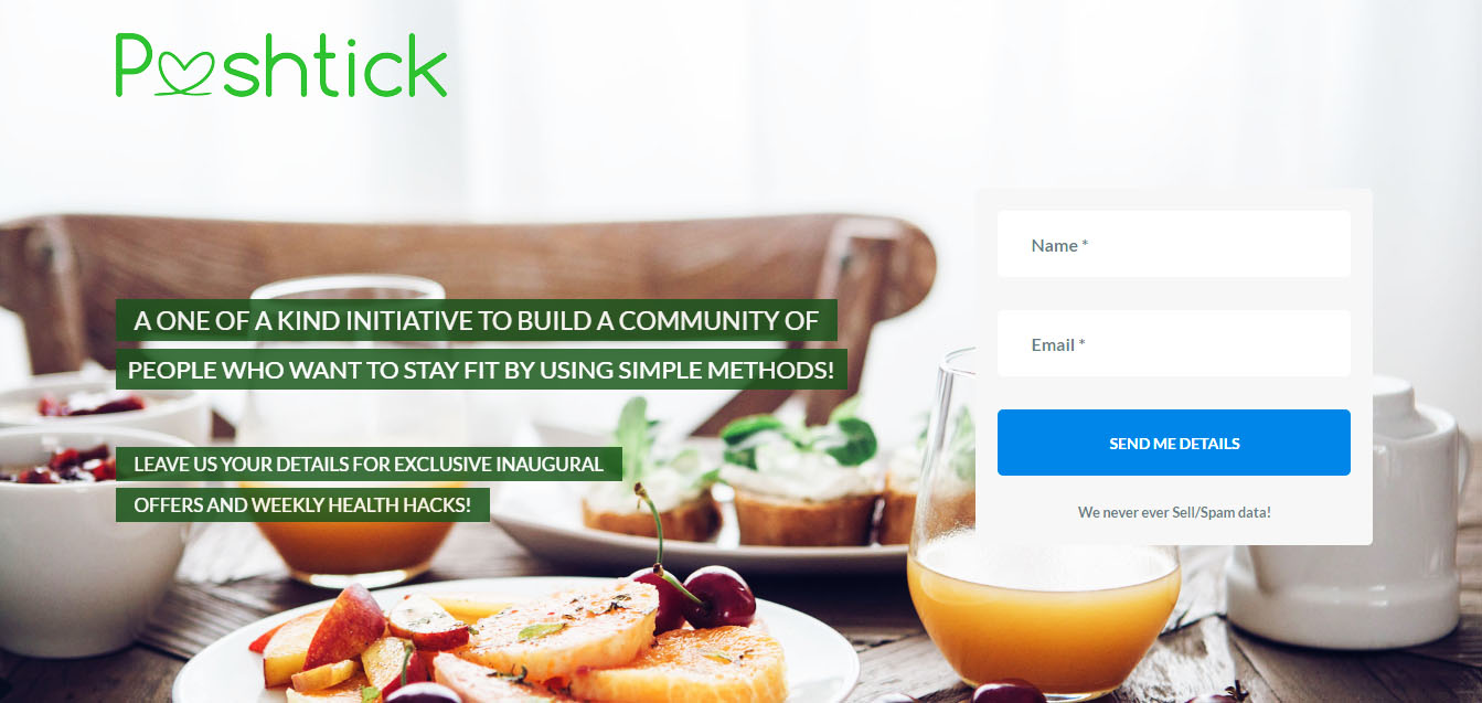 Health & Wellness Startup, Poshtick, Raises $450K Two Noida Based HNIs Photo