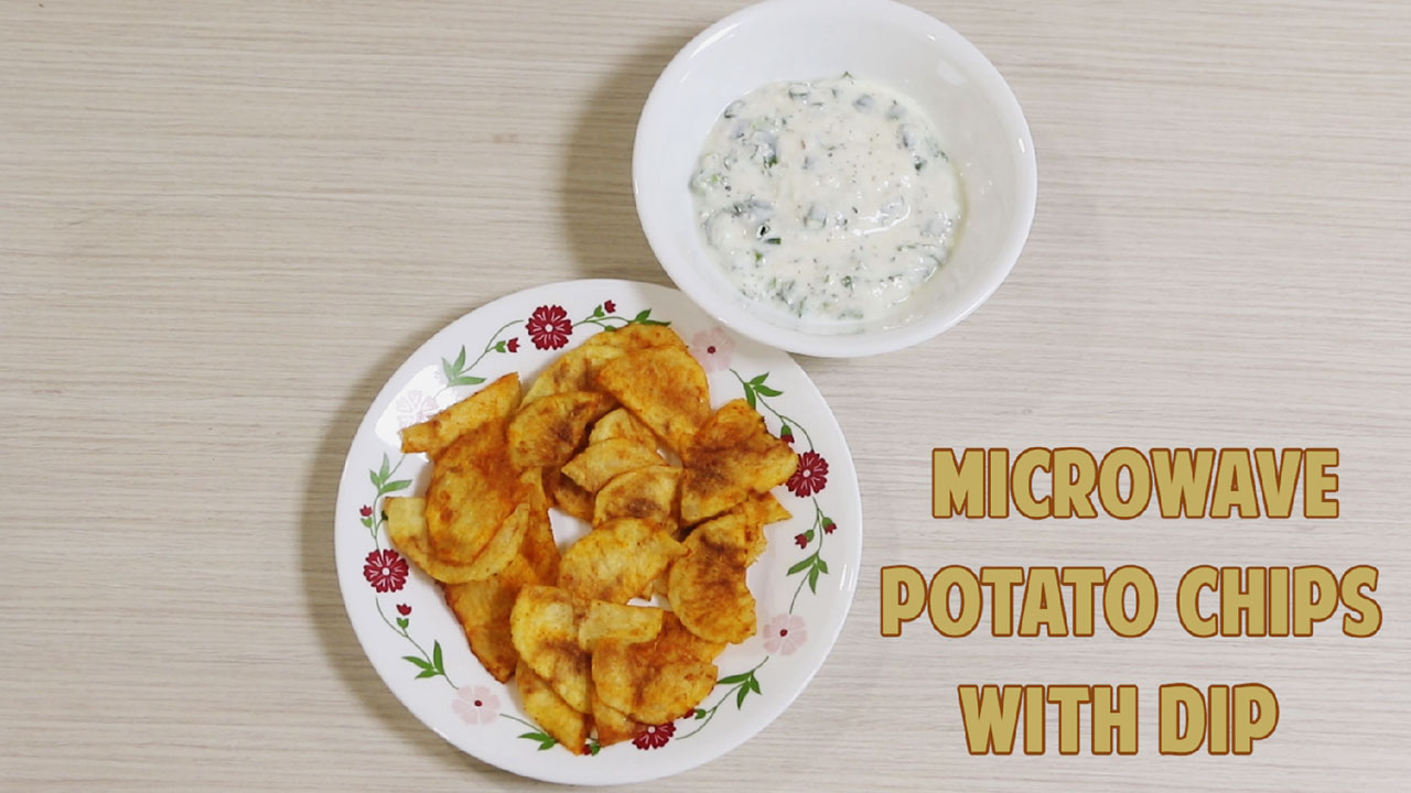 Microwave Potato Chips With Dip Recipe