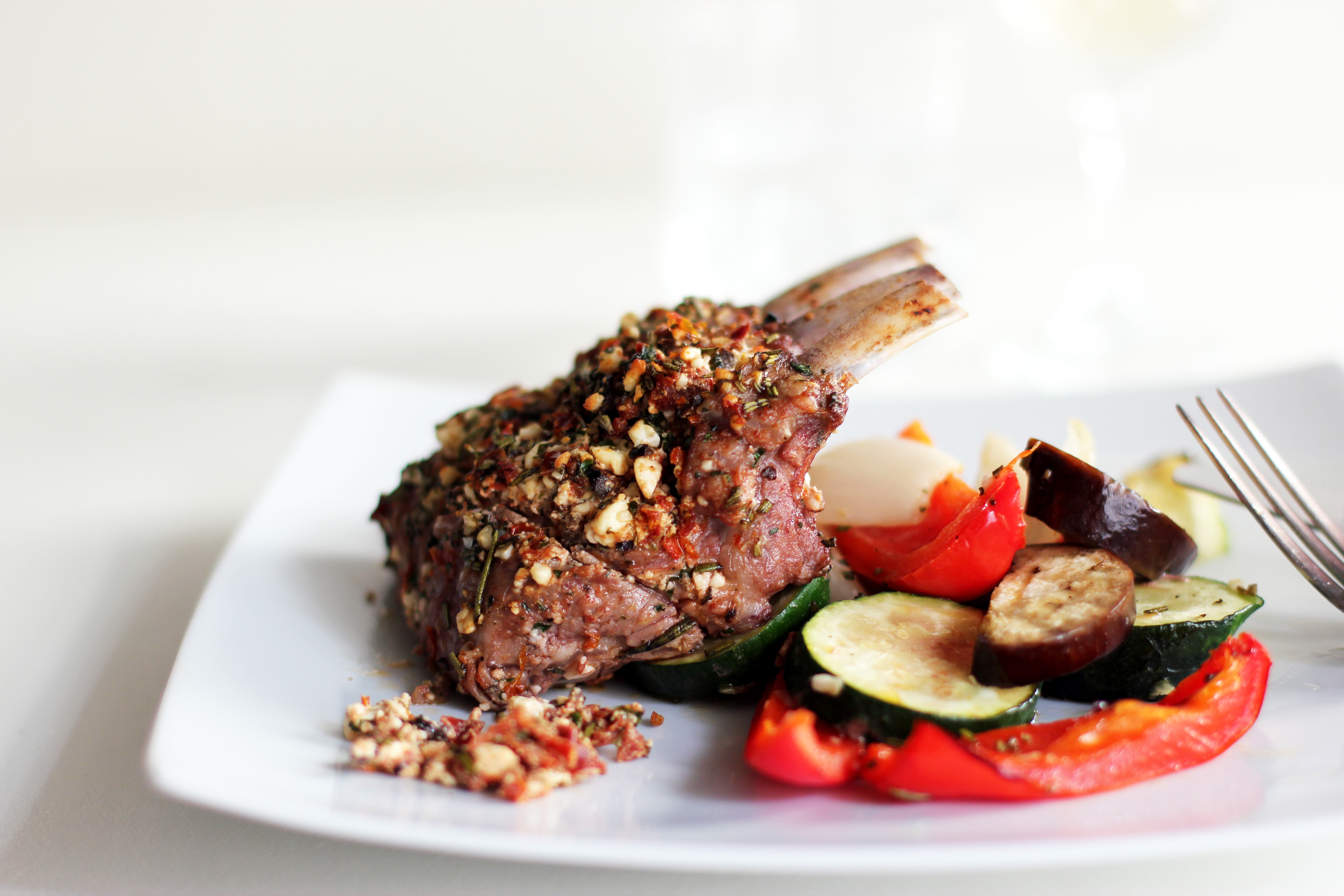 Spiced Rack Of Lamb With Balsamic Jus Recipe