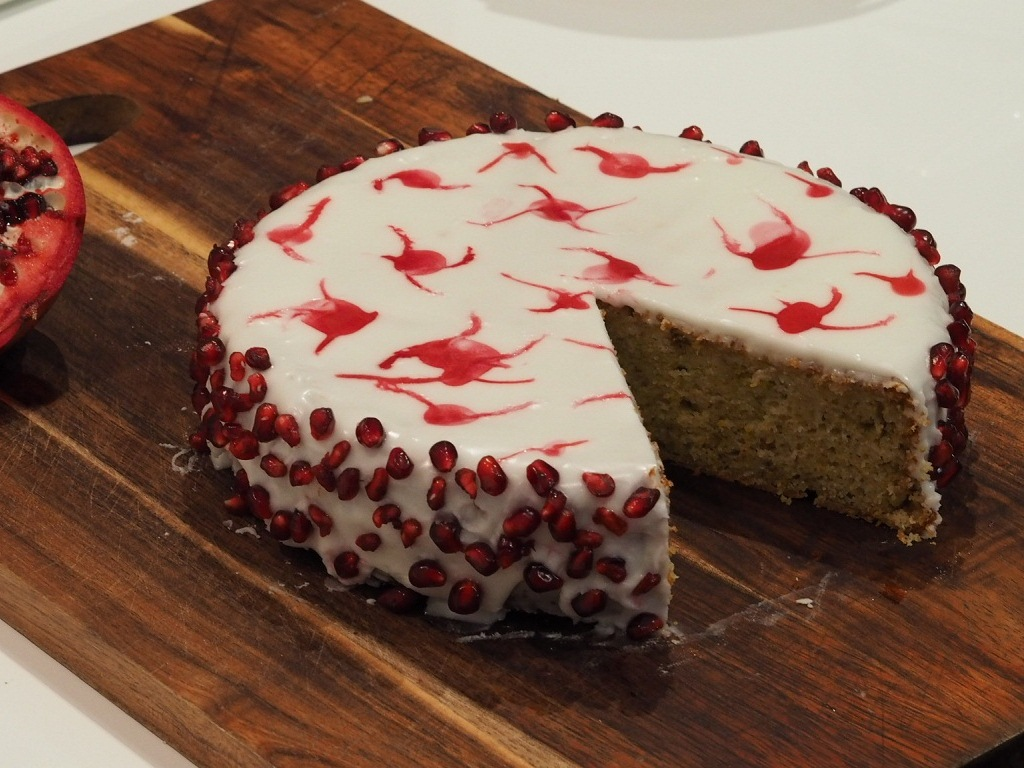 pomegranate cake recipe