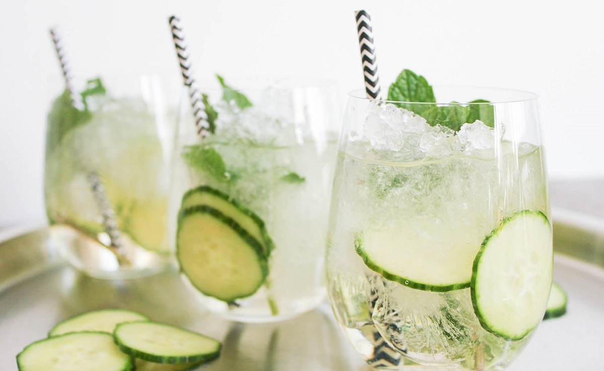 Try Out This Cucumber Fizz Cocktail If You Need A Drink - And A Snack!