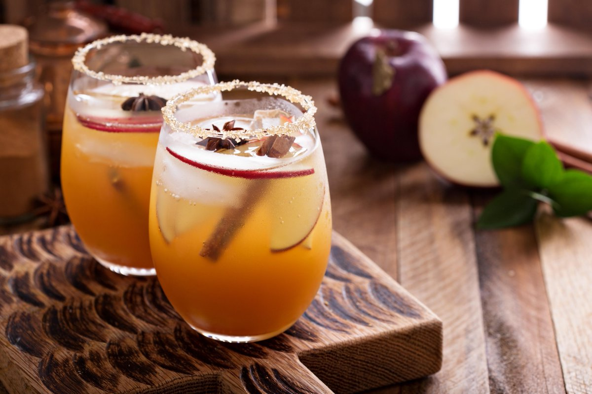 Apple & Pumpkin Beer Cocktail