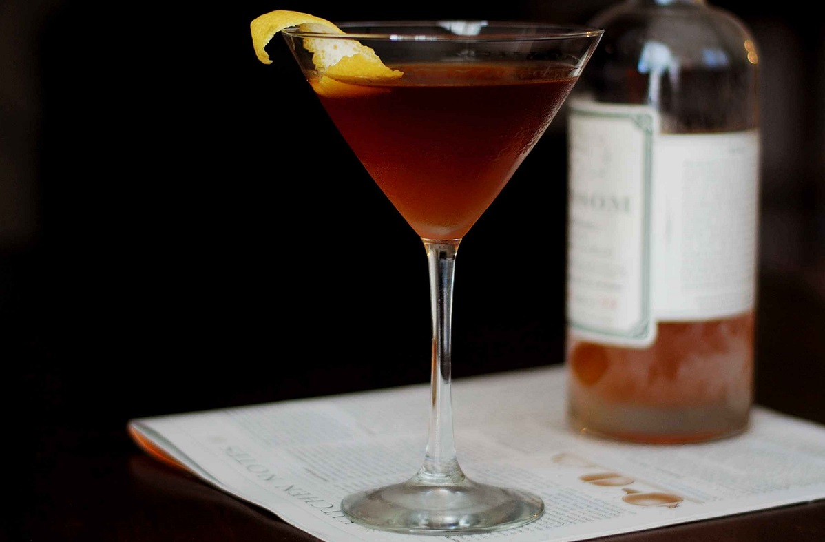 Corpse Reviver: Brandy and Sweet Vermouth