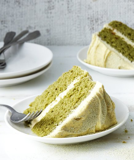 Matcha Cake With Buttercream Frosting Recipe