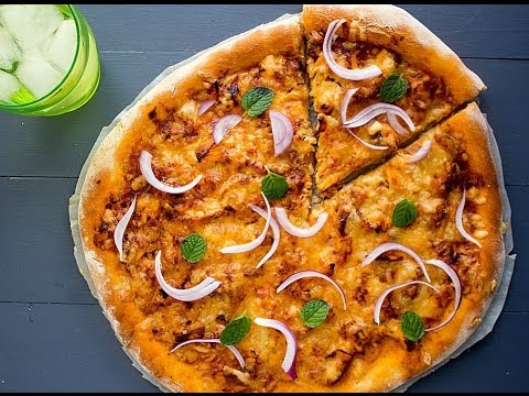 Butter Chicken Pizza Recipe (Hindi)