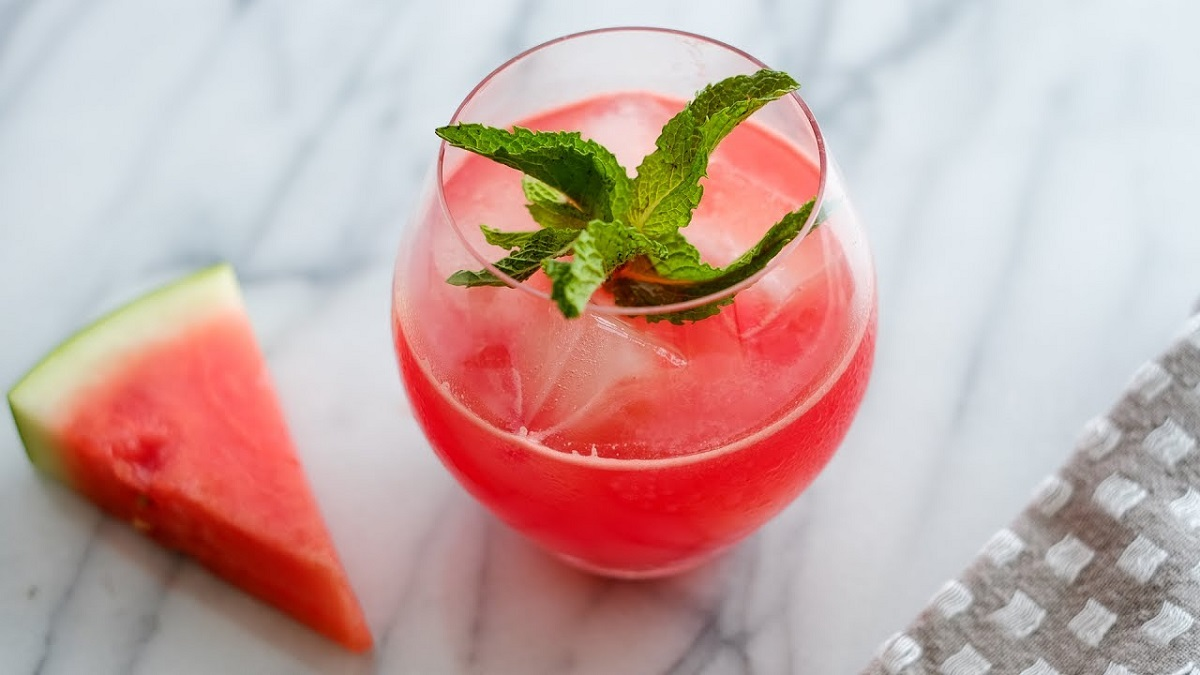 Minty Melon Cocktail