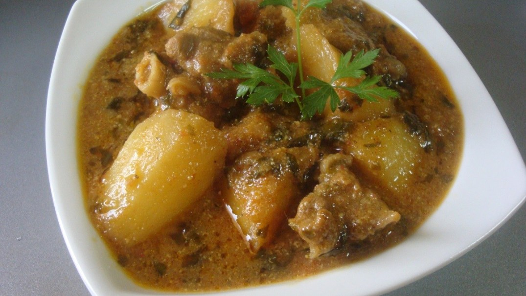 Mutton Potato Salna Recipe