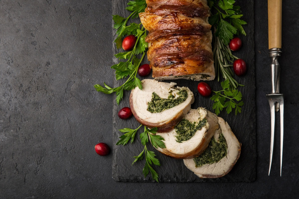 Christmas Cajun Spiced Turkey Wrapped With Bacon Recipe