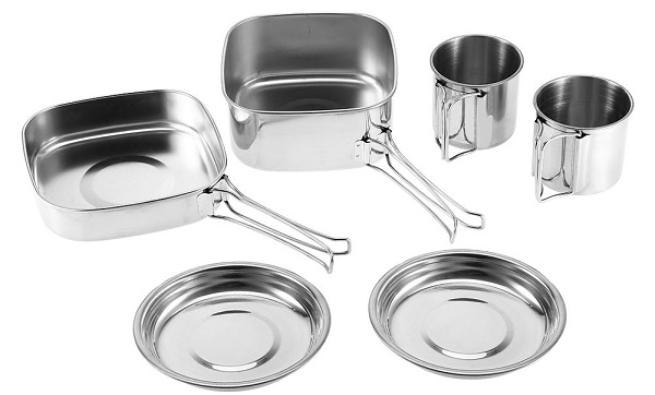 Dilwe-Camping-Cookware-Set-with-6-Pieces-Stainless-Steel