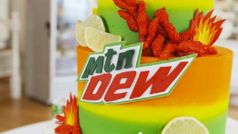 A Flamin' Hot Cheetos and Mountain Dew Cake Now Exists