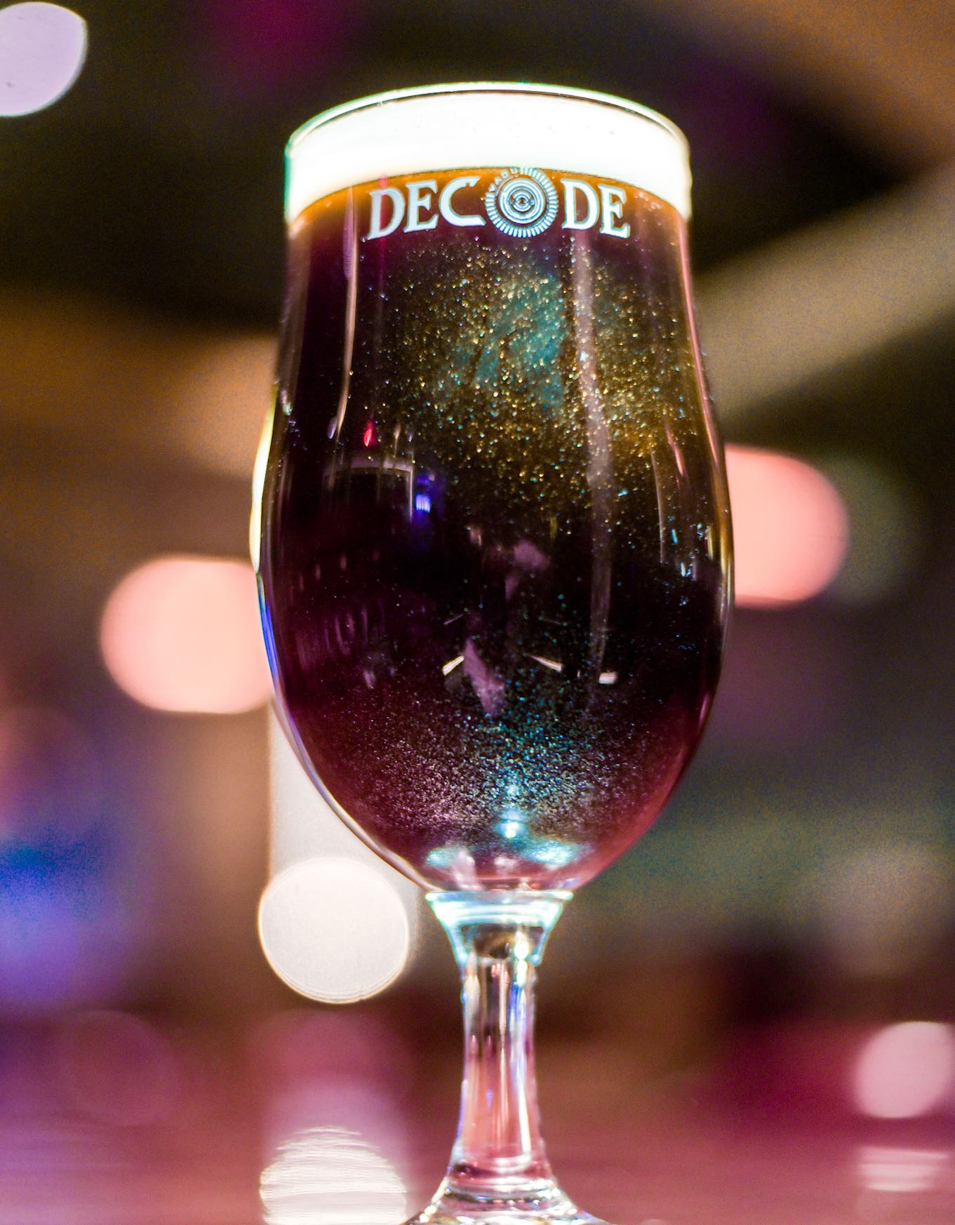 Try The Glitter Beer At Decode Air Bar