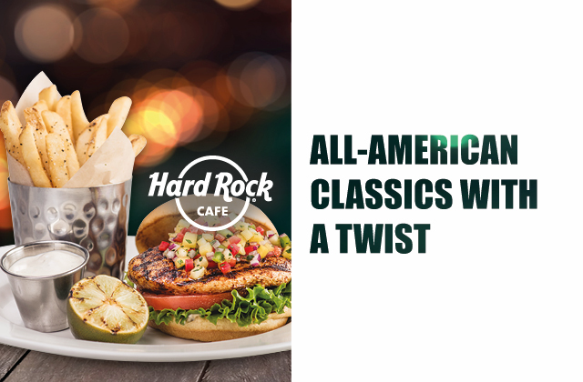 Enjoy This Season's Latest Twist at Hard Rock Cafe with the All American Classics Menu