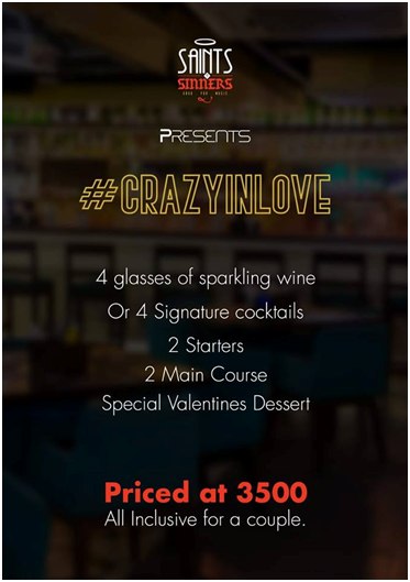 Saints N Sinners Invites Couples To Be  #CrazyInLove