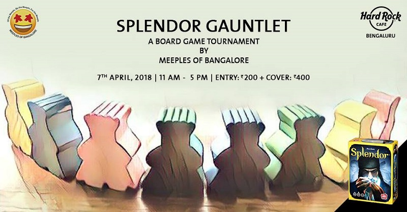 This Sunday Hard Rock Cafe Sets up the Board for a Splendor Gauntlet Tournament