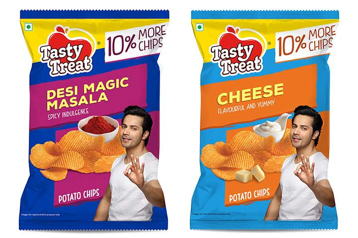 Tasty Treat Launches Five Variants Of Potato Chips With An Extra Quantity