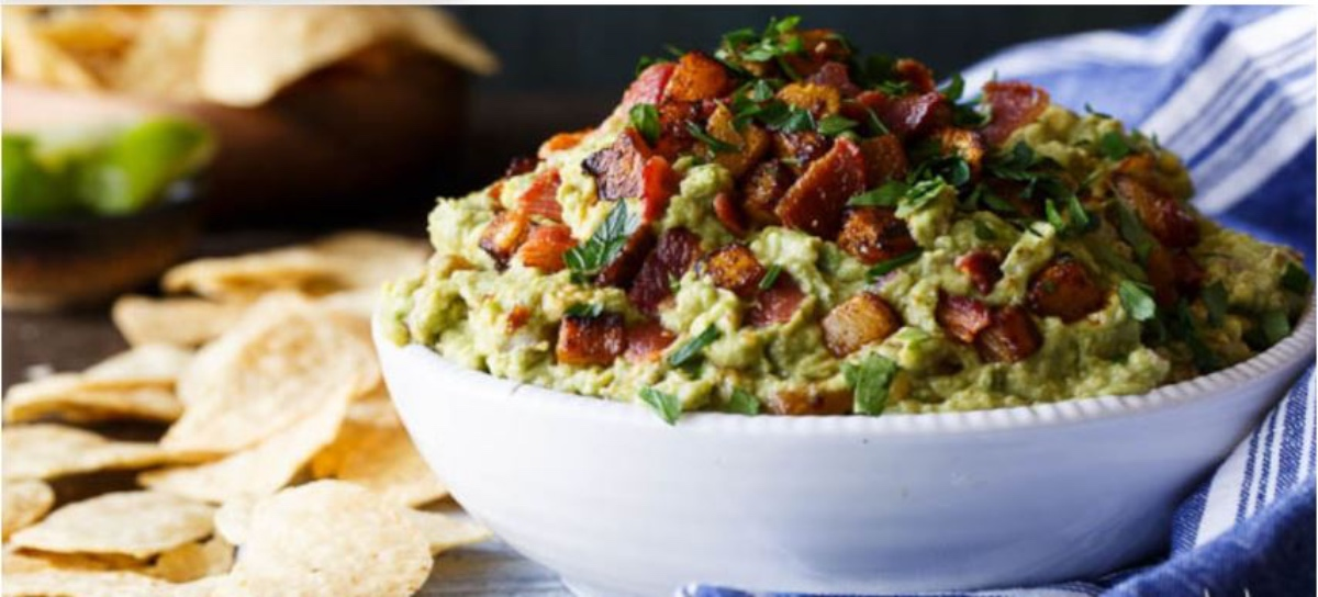 Spicy Guacamole With Bacon