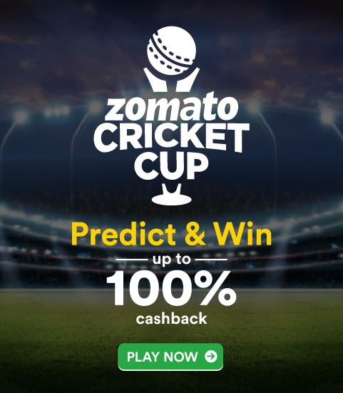 Hit It Out Of The Park With Zomato Cricket Cup