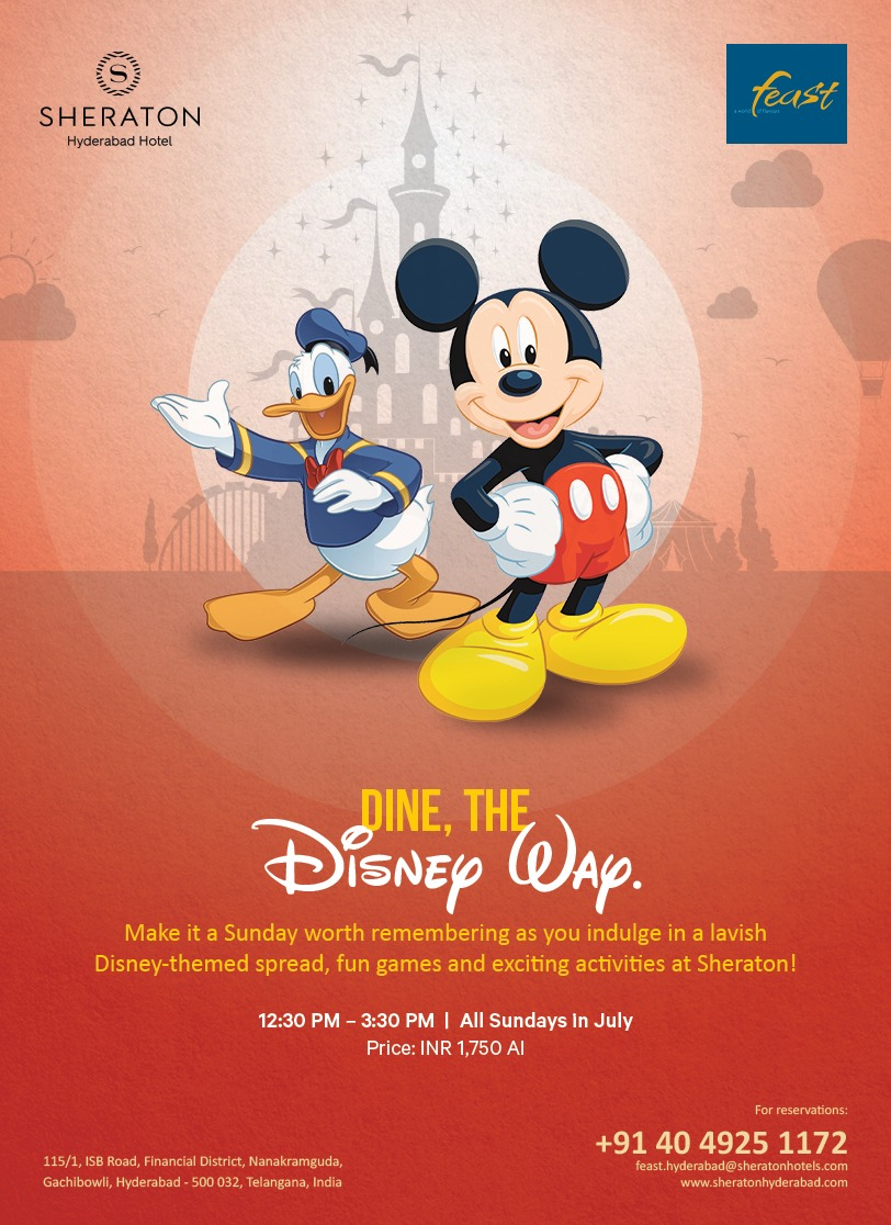 Disney Themed Brunch Every Sunday At  Sheraton Hyderabad Hotel Gachibowli