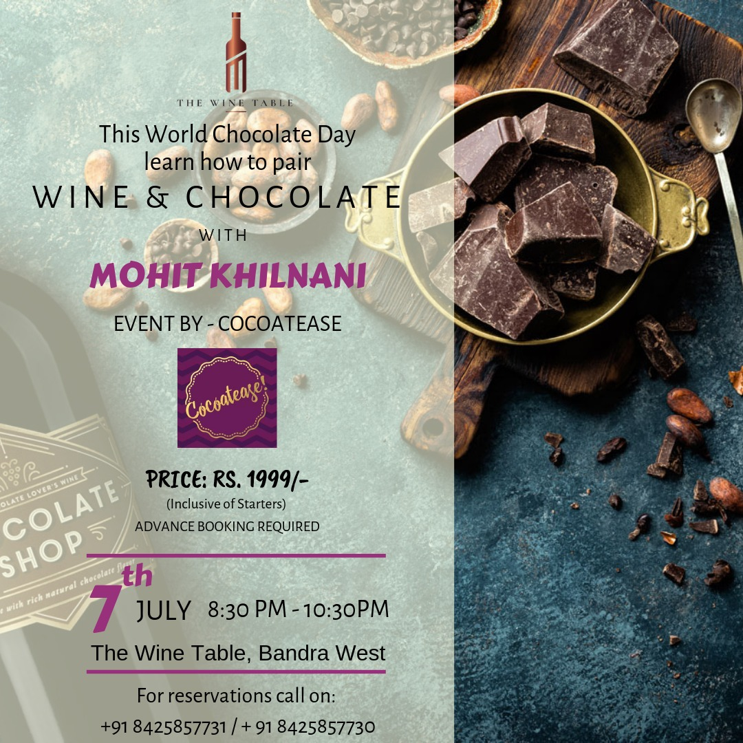 Learn How To Pair Chocolate & Wine At The Wine Table, Bandra
