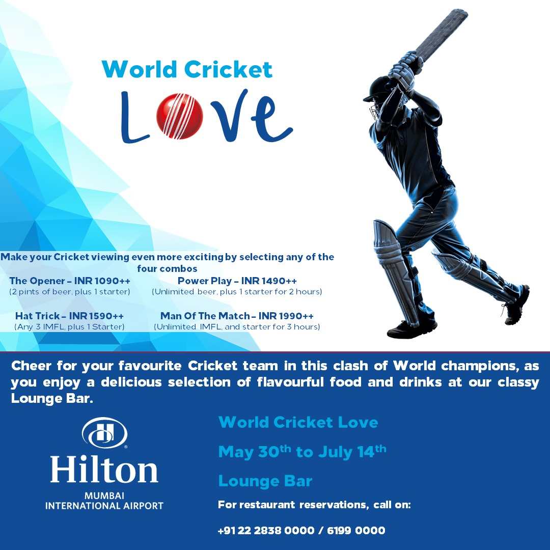 Hilton Mumbai International Airport Transforms Into A Cricket Pitch For All Cricket Fans