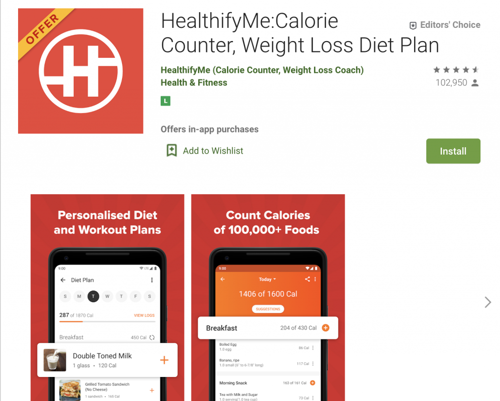 India's best diet and fitness apps